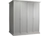 Шкаф 4-х створчатый для платья и белья (без зеркал) Амели