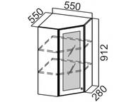 Шкаф навесной угловой со стеклом Ш550ус/912 Прованс