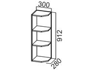 Шкаф навесной торцевой Ш300т/912 Прованс