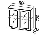 Шкаф навесной со стеклом Ш800с Прованс