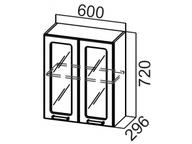 Шкаф навесной со стеклом Ш600с Прованс