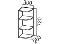 Шкаф навесной торцевой Ш300т Прованс