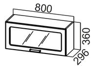 Шкаф навесной горизонтальный со стеклом ШГ800с Прованс