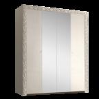Шкаф 4-х дв. для платья и белья с зеркалами Тиффани Премиум