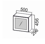 Шкаф навесной горизонтальный со стеклом ШГ500с/456 Прованс