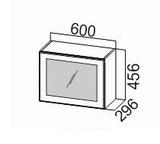 Шкаф навесной горизонтальный со стеклом ШГ600с/912 Прованс