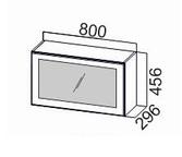 Шкаф навесной горизонтальный со стеклом ШГ800с/912 Прованс